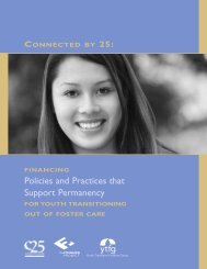Financing Policies and Practices that Support Permanency for Youth