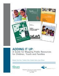 Adding it up: - The Forum for Youth Investment