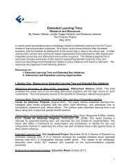 Extended Learning Time: Research and Resources - The Finance ...
