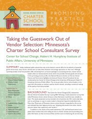 Taking the Guesswork Out of Vendor Selection: Minnesota's Charter ...