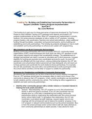 Building And Establishing Community Partnerships - The Finance ...