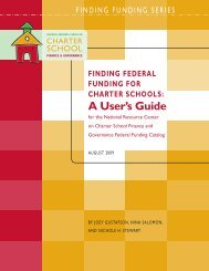 Finding Federal Funding For Charter SChoolS: a users guide