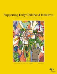 Supporting Early Childhood Initiatives - The Finance Project