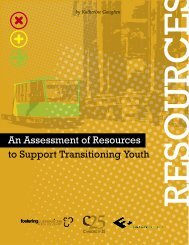 An Assessment of Resources to Support Transitioning Youth