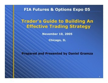 Trader's Guide to Building An Effective Trading Strategy