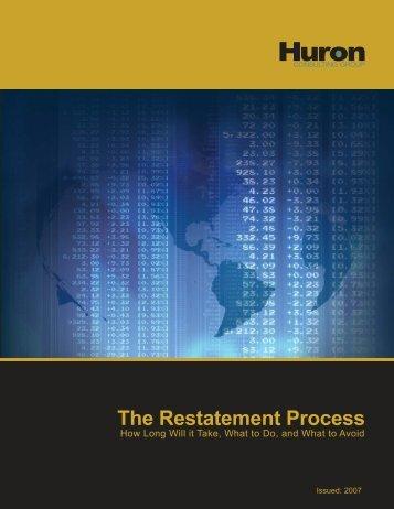 The Restatement Process - Financial Executives International