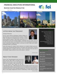 May 2011 Newsletter - Financial Executives International