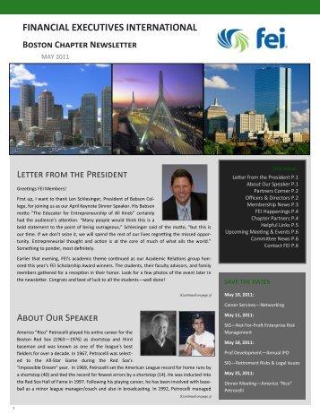 May 2011 Newsletter - Financial Executives International