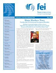 FEI Newsletter May 2009 - Financial Executives International