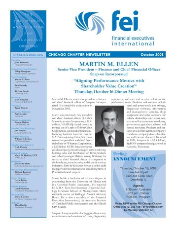 MARTIN M. ELLEN - Financial Executives International
