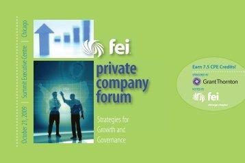 private company forum - Financial Executives International