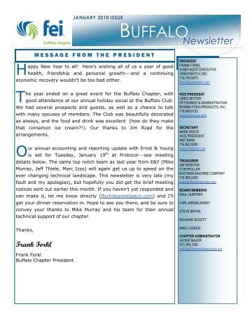 January 2010 Newsletter! - Financial Executives International