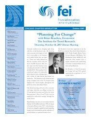 FEI Newsletter October 2007 - Financial Executives International