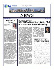 August 2001 SDFEI Newsletter - Financial Executives International