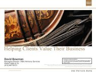 Helping Clients Value Their Business - Financial Executives ...