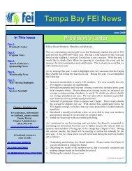FEI Newsletter - June 2009 - Financial Executives International
