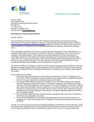 comment letter - Financial Executives International