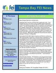 June 2011 Newsletter - Financial Executives International