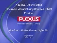 A Global, Differentiated Electronic Manufacturing Services (EMS ...