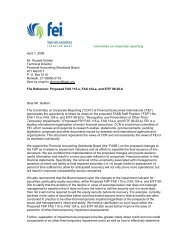 FEI CCR letter to FASB - Financial Executives International