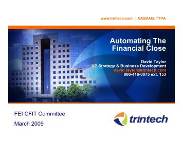 Automating The Financial Close - Financial Executives International