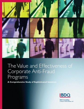 The Value and Effectiveness of Corporate Anti-Fraud Programs