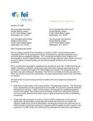 FEI COT Letter to Congress - Financial Executives International