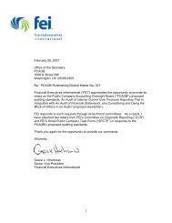 FEI CCR and SPCTF comments to the PCAOB - Financial ...