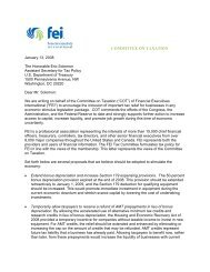 FEI COT's Letter to Treasury - Financial Executives International