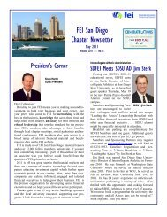 SDFEI May 2011 Newsletter - Financial Executives International
