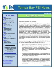 Tampa Bay FEI News - Financial Executives International