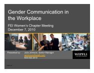 Gender Communication in Gender Communication in the Workplace