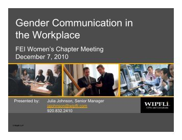 gender conversation variances with that workplace