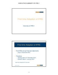 First-time Adoption of IFRS - Financial Executives International