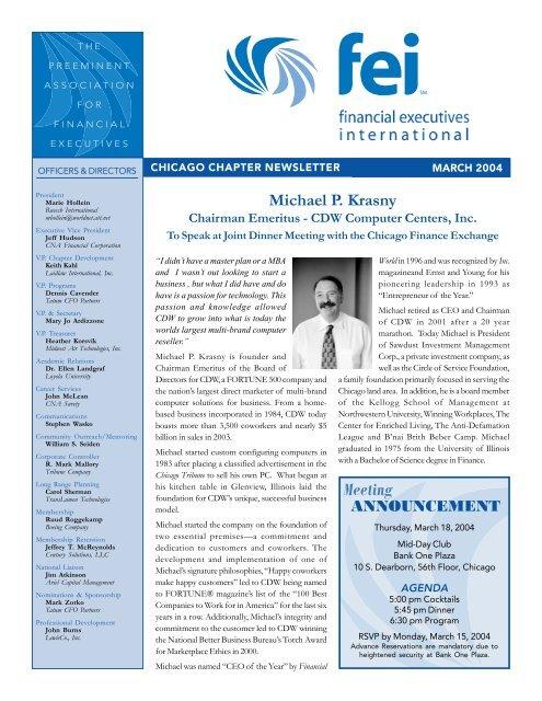 FEI Newsletter March 2004.p65 - Financial Executives International