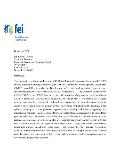 view comment letter - Financial Executives International