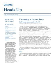 FASB Issues Interpretation No. 48 on Uncertainty in ... - Deloitte