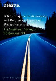 A Roadmap to the Accounting and Regulatory Aspects of ... - IAS Plus
