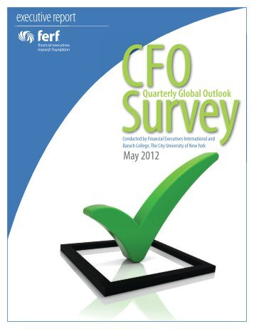 CFO Quarterly Outlook Survey - Financial Executives International
