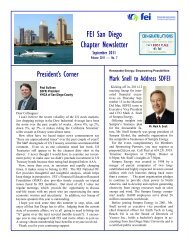 SDFEI September 2011 Newsletter - Financial Executives International