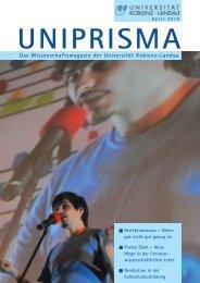 UNIPRISMA Das Wissenschaftsmagazin der Universität ...