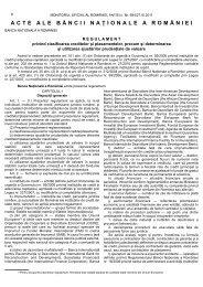 R E G U L A M E N T UL BNR privind clasificarea ... - Financiarul