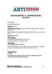DAN DIACONESCU L.V. DISTRIBUTION SRL Bucuresti - Financiarul