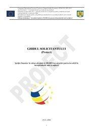Ghidul Solicitantului pentru IMM investii mici, axa 1, D 1.1 - Financiarul