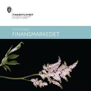 Tilsyn med finansmarkedet - Finanstilsynet