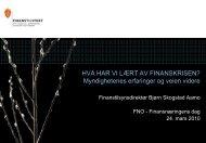 Hva har vi lært av finanskrisen? - Finanstilsynet