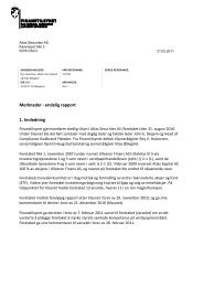 Merknader - endelig rapport 1. Innledning - Finanstilsynet