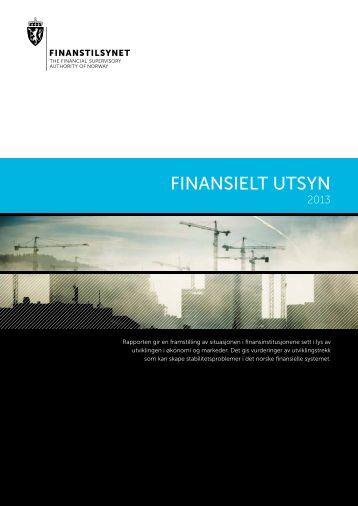 Finansielt Utsyn 2013 - Finanstilsynet