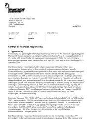 Kontroll av finansiell rapportering - Finanstilsynet