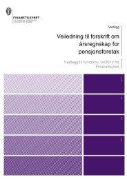 Veiledning til forskrift om årsregnskap for ... - Finanstilsynet